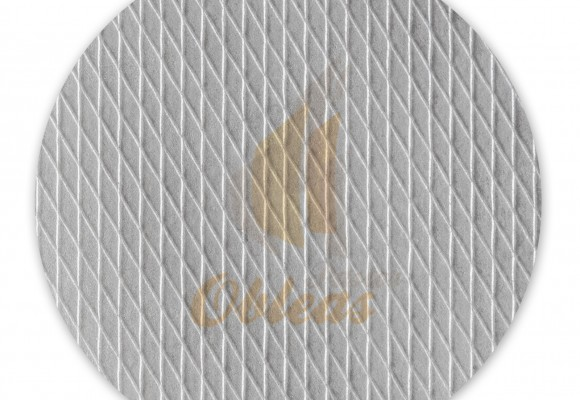 Circular wafer white