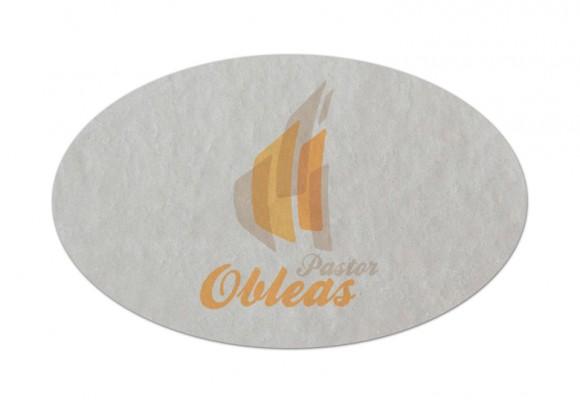 Etiqueta Ovalada de Oblea
