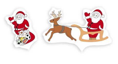 Conjunto Papa Noel y Trineo
