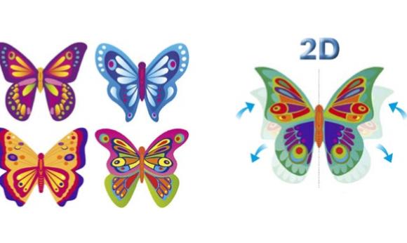 Mariposas 2D de Oblea
