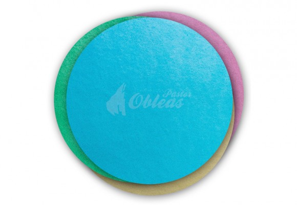 Circular colored wafer
