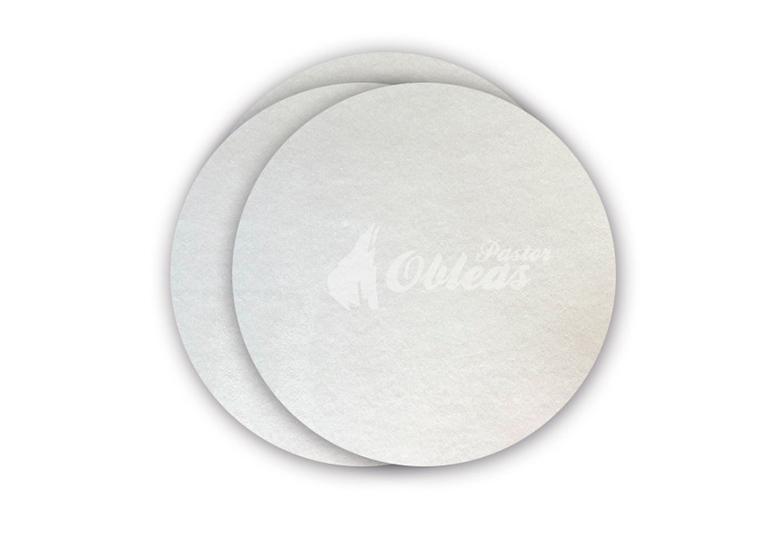 Papier d'hostie circulaire Blanc lisse