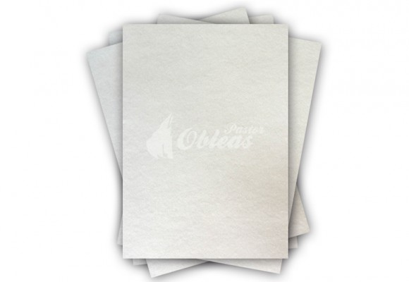 Oblea Lisa Rectangular Blanca