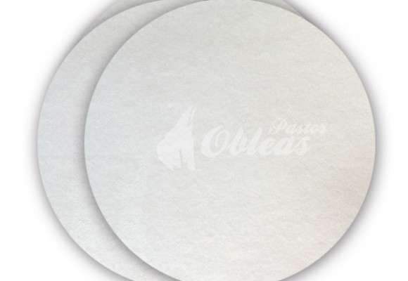 White Circular Smooth Wafer