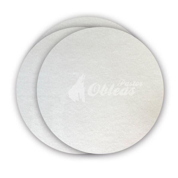 White Circular Smooth Wafer